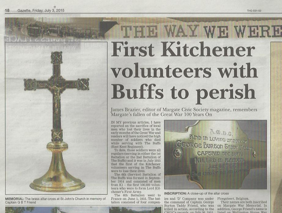 First Kitchener Volunteers with Buffs to perish