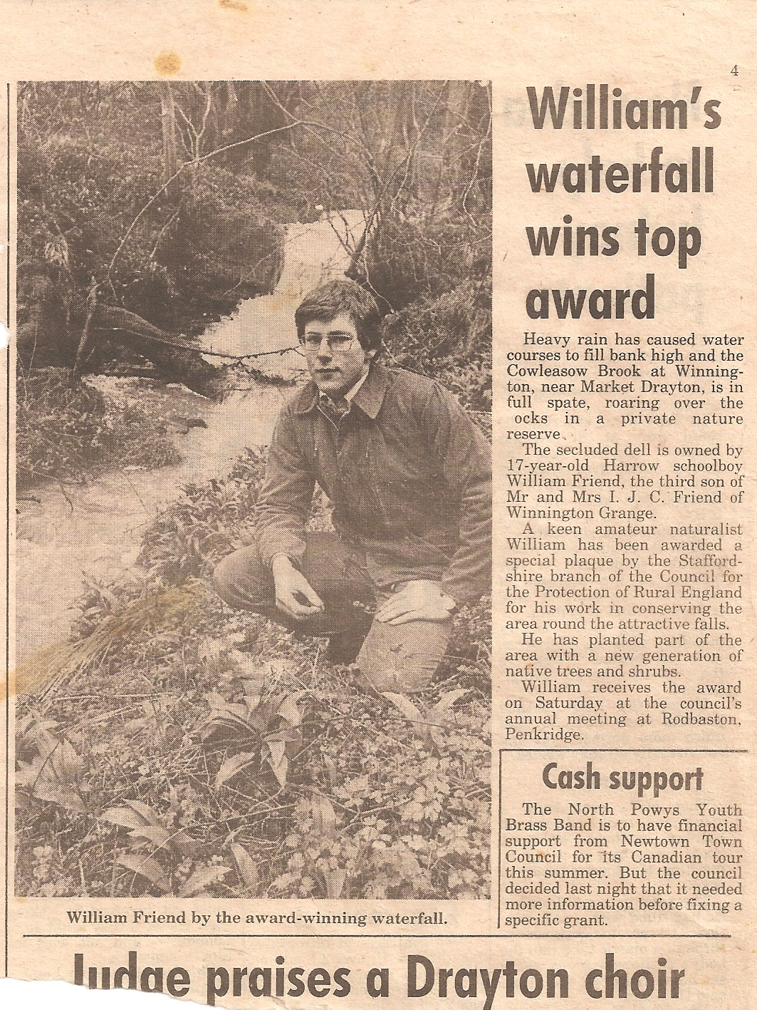 Will Friend Top Award 1980