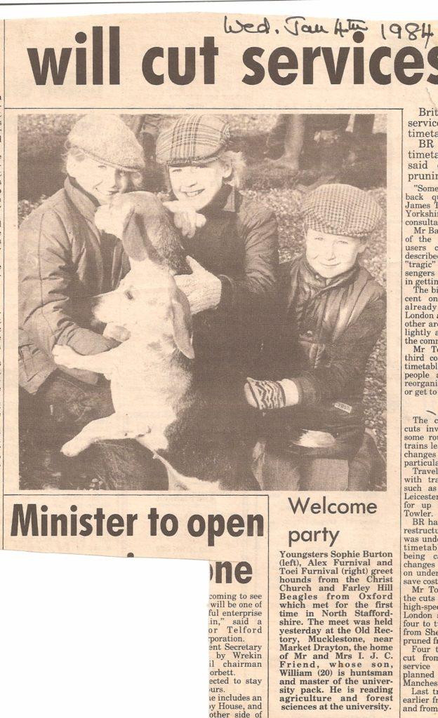 WIll Friend Newspaper 4 Jan 1984