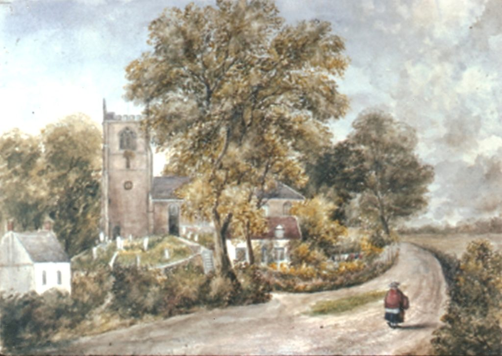 View of Mucklestone early 1800's