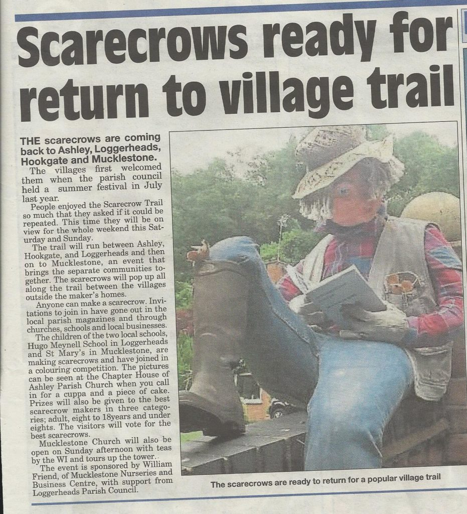 Scarecrows at Mucklestone